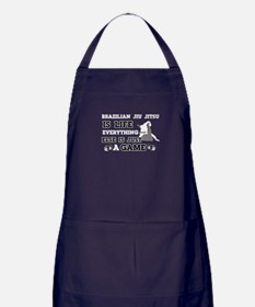 Brazilian Jiu Jitsu is life Apron (dark)