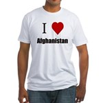 I luv Afghanistan Fitted T-shirt (Made in the USA)