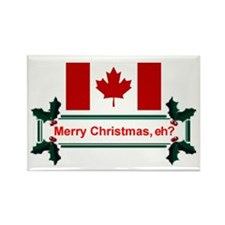 Canadian Christmas, eh? Rectangle Magnet