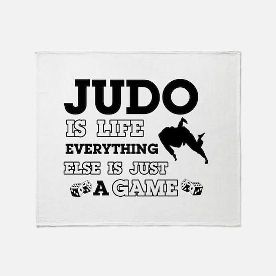 Judo is life Throw Blanket
