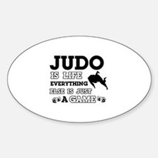 Judo is life Sticker (Oval)