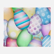 Decorated Eggs Throw Blanket