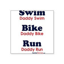 Triathlon Daddy Rectangle Sticker