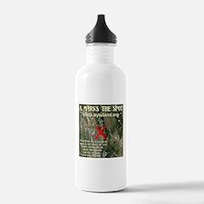 X Marks The Spot Water Bottle