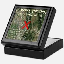 X Marks The Spot Keepsake Box