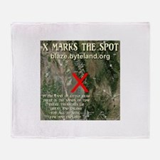 X Marks The Spot Throw Blanket