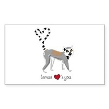 Rectangle Sticker Lemur