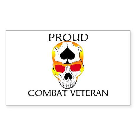 Proud Combat Veteran Sticker