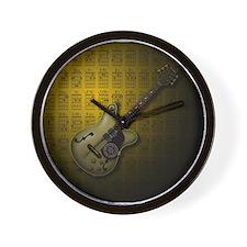 KuuMa Guitar 10 (Y) Wall Clock