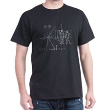 Pioneer Plaque Black T-Shirt