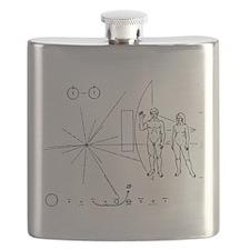 Pioneer Plaque Black Flask