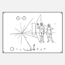 Pioneer Plaque Black Banner
