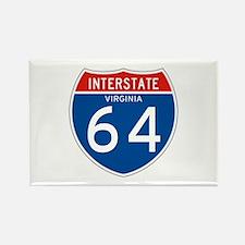 Interstate 64 - VA Rectangle Magnet