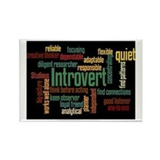 Introvert Strengths Word Cloud 3 Rectangle Magnet