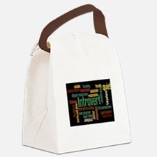 Introvert Strengths Word Cloud 3 Canvas Lunch Bag