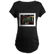 Introvert Strengths Word Cloud 3 Maternity T-Shirt
