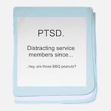 PTSD - BBQ Peanuts baby blanket