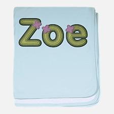 Zoe Spring Green baby blanket