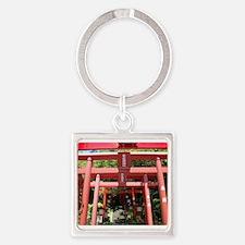 Red gates of Shintoist shirine (Miyajidake) Keycha