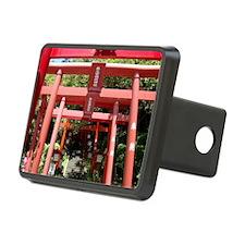Red gates of Shintoist shirine (Miyajidake) Hitch