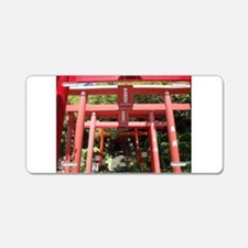 Red gates of Shintoist shirine (Miyajidake) Alumin