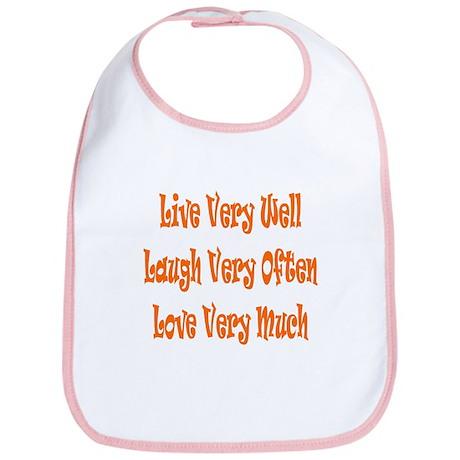 Live Love Laugh Bib
