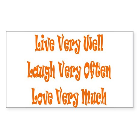 Live Love Laugh Rectangle Sticker