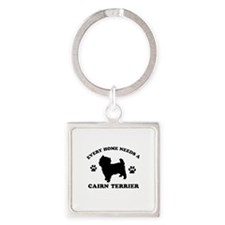Every home needs a Cairn Terrier Square Keychain