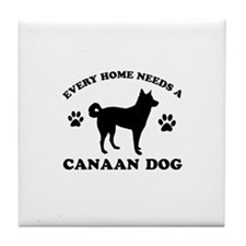 Every home needs a Canaan Dog Tile Coaster