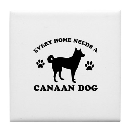 Every home needs a canaan dog tile coaster by madmentees for Every dog needs a home