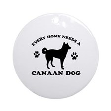 Every home needs a Canaan Dog Ornament (Round)
