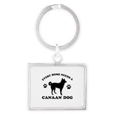 Every home needs a Canaan Dog Landscape Keychain