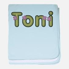 Toni Spring Green baby blanket