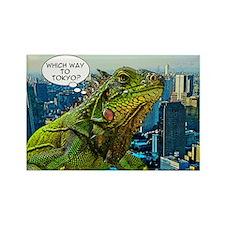 Comical Iguana Rectangle Magnet