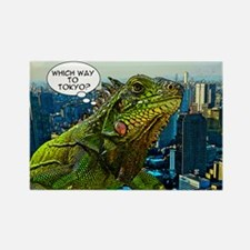 Comical Iguana Rectangle Magnet