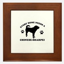 Every home needs a Chinese Sharpei Framed Tile