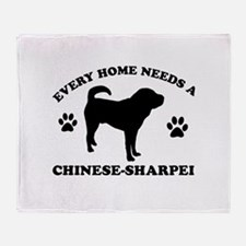 Every home needs a Chinese Sharpei Throw Blanket