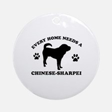 Every home needs a Chinese Sharpei Ornament (Round