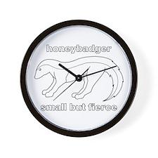 honeybadger small but fierce Wall Clock