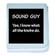 Sound Guy Knows baby blanket
