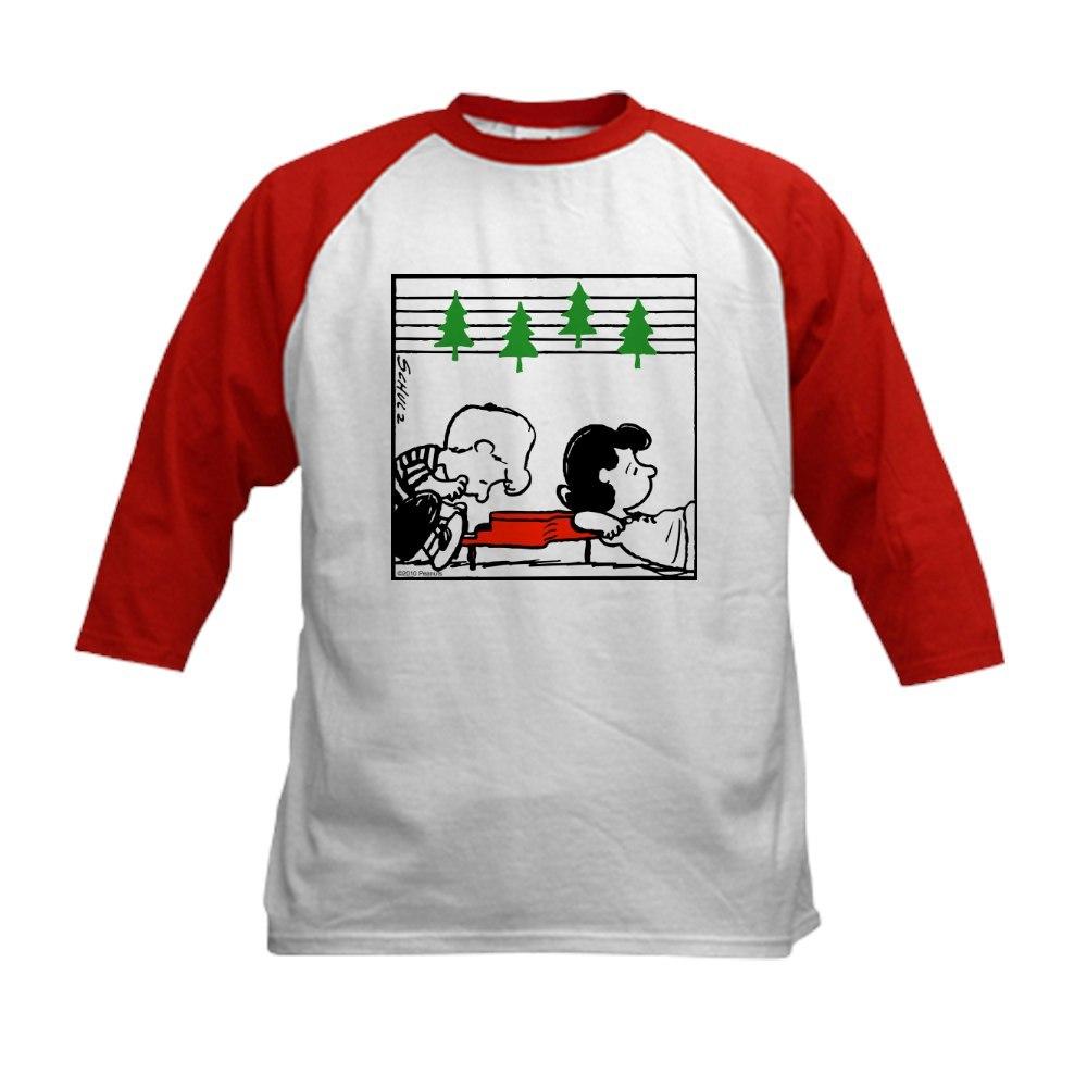CafePress Christmas Tree Melody Kids Baseball Jersey