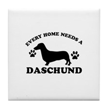 Every home needs a Daschund Tile Coaster