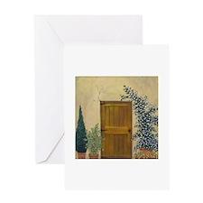 StephanieAM Wood Door Greeting Card