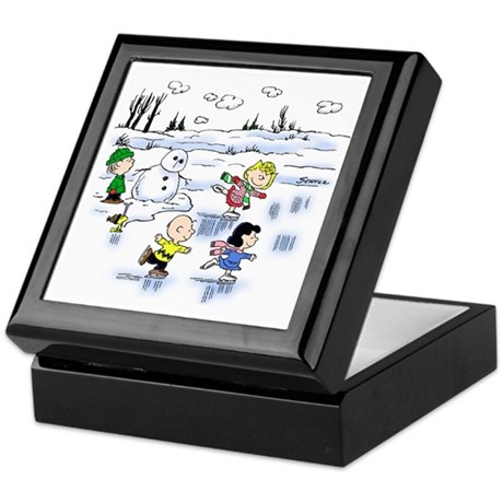 Snow Scene Keepsake Box