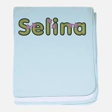 Selina Spring Green baby blanket