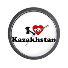 I Love [Heart] Kazakhstan Wall Clock