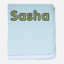 Sasha Spring Green baby blanket