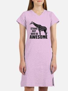 Awesome Giraffe Women's Nightshirt