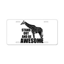 Awesome Giraffe Aluminum License Plate