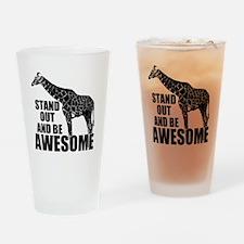 Awesome Giraffe Drinking Glass